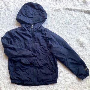 Navy Gap Kids Windbreaker or Rain Hooded Jacket